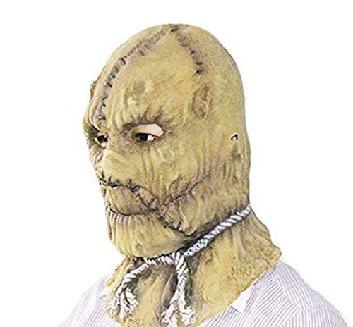 DylunSky Halloween Scarecrow Horror Mask Rot Red Nose Scary Mask Long Nose Zombie Latex Mask (Scarecrew)