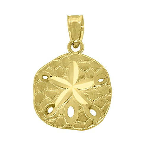 14kt Gold Unisex Diamond Cut Star Fish Height 19.7mm Animal Pendant Charm 14kt Gold Diamond Cut Charm