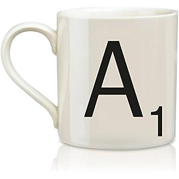 scrabble mug letter a