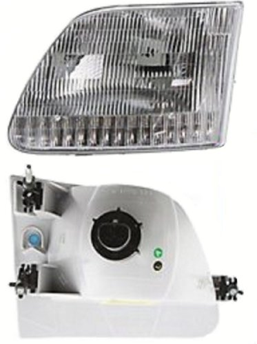 Discount Starter and Alternator FO2502139 Replacement Headlight Fits Ford F-150 Driver Side Plastic Lens With Bulbs ()