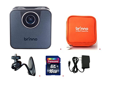Brinno WIFI HDR Time Lapse Camera TLC120A-BK+ ATP100 + AWM100 + 16GB + Wall Power Supply Action Cameras Brinno