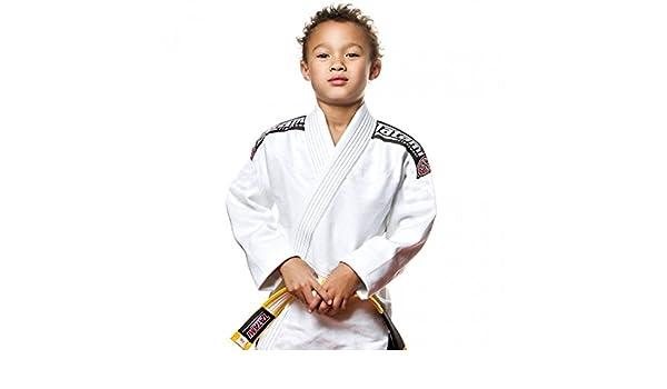 White w White Belt Tatami Kids Youth Childrens Nova Absolute Jiu-Jitsu BJJ Gi
