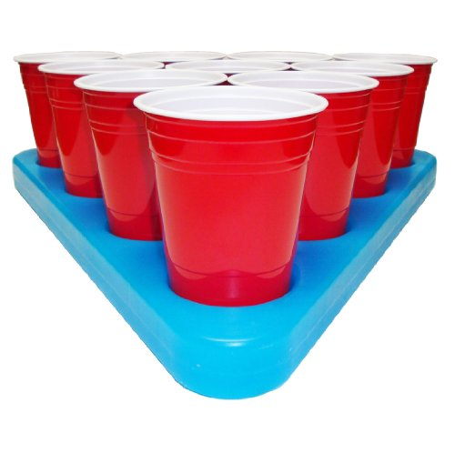 GoPong N-Ice Rack Freezable Beer Pong Rack Set, Includes 2-Racks, 3-Balls and Rules