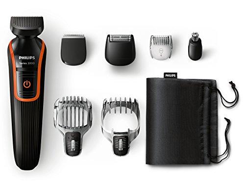 Philips QG3340/16 Multigroom-Set (3-Tage-Bart-/Detailkammaufsatz, Detailrasierer)