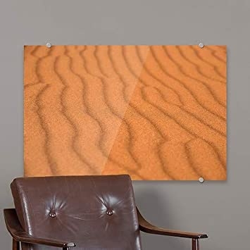 Utah Premium Acrylic Sign 5-Pack | 18x12 Circle CaptureWaves in a Sand Dune in Canyonlands National Park CGSignLab