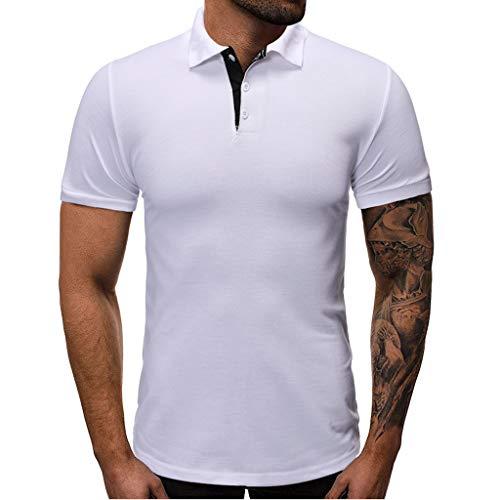 Kekebest 2019 Summer Trendy Popular Top for Men,Blouse T-Shirts Vest Fashion Personality Casual Slim Short Sleeve T Pocket Shirt Regular Big Sizes Casual Slim Fit Basic ()