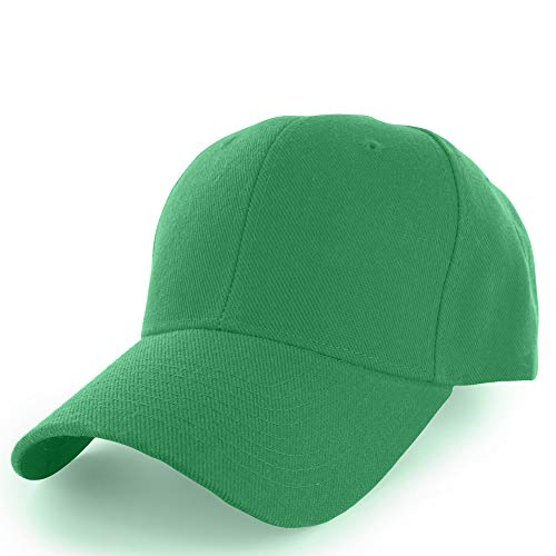 (KANGORA Plain Baseball Cap Adjustable Men Women Unisex | Classic 6-Panel Hat | Outdoor Sports Wear (20+Colors) (Green))