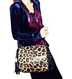 Sexy Leopard Print Faux Leather Tote Bag, Punk Style Hobo Shoulder Bag for Girls, Gift Idea, Bags Central
