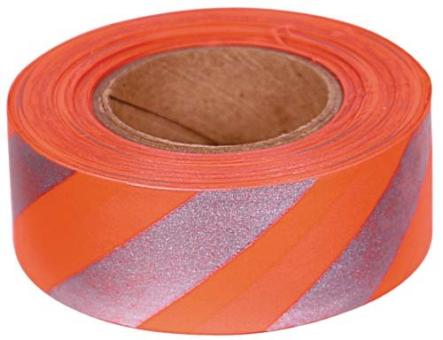 Orange Reflective Tape (Allen Reflective Flagging Tape, 150 Ft. Roll)