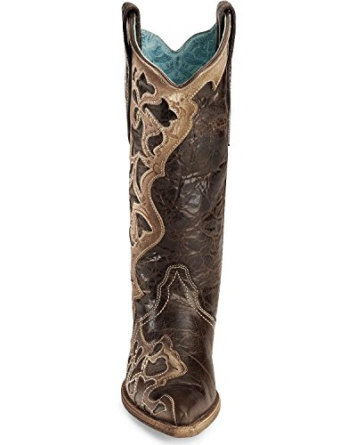 Corral Womens Tooled Laser Fashion Boots Chocolate BnMhMt8Y