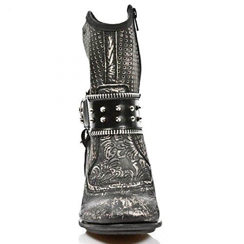 Nouvelles Bottes Rock M.tx005-c3 Gothique Punk Hardrock Damen Highheels Grau