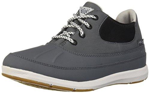 Columbia PFG Women's Delray Duck PFG Rain Shoe, Graphite, Silver/Grey, 8 Regular US