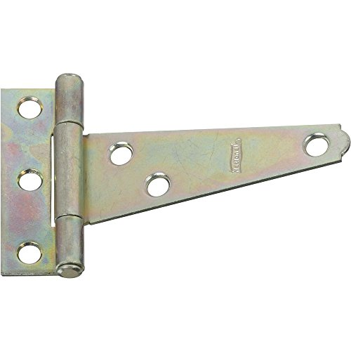 - National Hardware N128-512 V284 Light T Hinges in Zinc plated, 2 pack