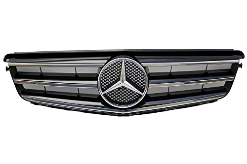 Mercedes Benz W204 C Class Front Radiator Grill Black Sport Grill 2008-2014 C250 C300 C350 New