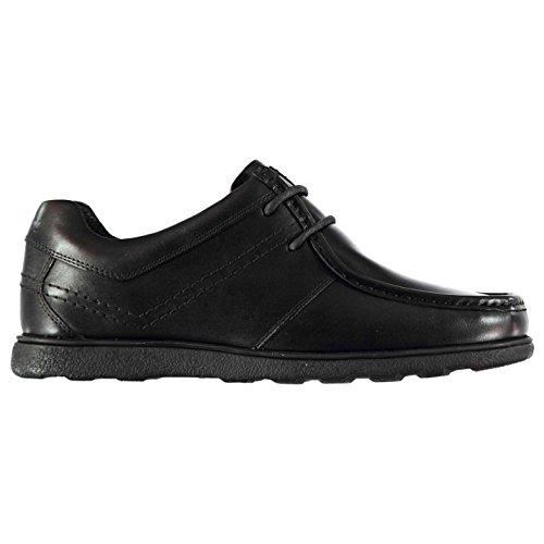 Kangol Mens Farham Lace Shoes Moc Toe Up Leather Upper Cushioned Ankle Collar Black UK 8 - Uk Kangol