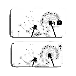 Black vector dandelions cell phone cover case Samsung S6