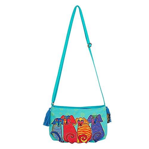 Laurel Burch Mini Artistic Cross Canine E Friends Body 5552 Handbag p7p1qw
