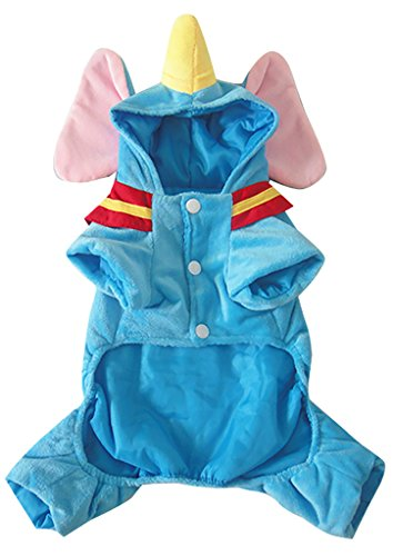 Best Magician Costume (Woo Woo Pets New Arrival Christmas Cute Tridimensional Dumbo Pet Costume Blue XL)