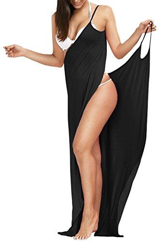 Chuanqi Womens Bikini Cover Up Spaghetti Strap Backless Beach Dress Swimwear