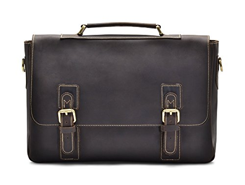 Hølssen Satchel Briefcase Messenger 15'' Laptop Genuine Leather Men Bag by Hølssen