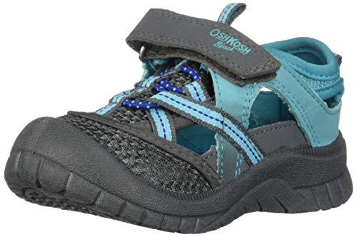 OshKosh B/'gosh Boys Bax-B Bumptoe Athletic Toddler Navy Sandals with Adj Strap