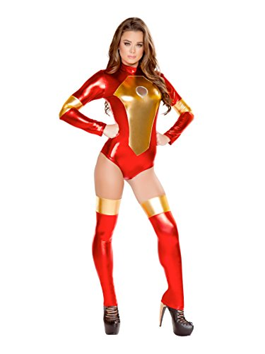 Sexy Iron Maiden Costume Red/Gold]()