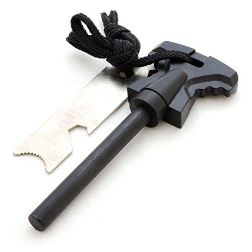 Feuerstahl / Feuerstein (Zündstein) aus Magnesium (68mm Länge) für Outdoor / Survival, Camping-Anzünder (Firesteel…