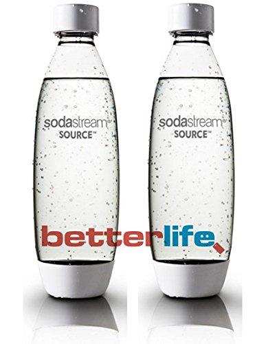 2 pack original Sodastream Source white carbonating reusable