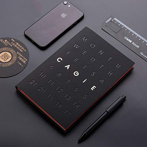 Sinngukaba Fashion A5 Business Notebook Notepad, PU Leather,Premium Thick Paper, Black (Color : Black) by Sinngukaba (Image #1)