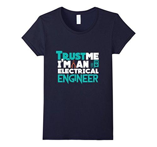 Womens Trust Me I'm an Electrical Engineer T Shirt XL Navy