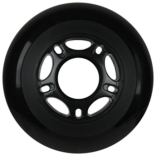 OUTDOOR Inline Skate Wheels 80MM 89a BLACK x8 W/ ABEC 9 BEARINGS by Player's Choice (Image #1)