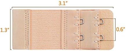 3 Reihen Damen-BH-Extender 3 Haken BH-Verl/ängerungsriemen ANCIRS 10 St/ück elastische BH-Verl/ängerungen gemischte Farben