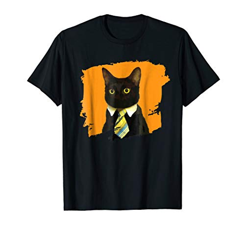 Funny Black Business Love Cat T-shirt by 2 Black Business Love Cat Tees (Image #2)