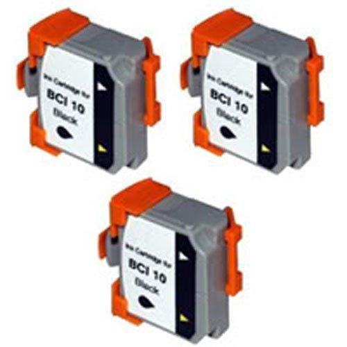 Amsahr BCI-10BK Canon BCI-10BK, BJ-30, BJC-70 Remanufactured Replacement Cartridges 3-Pack, Black - Bci 10bk Black Ink