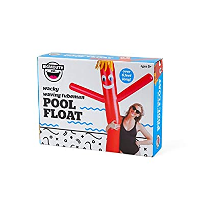 BigMouth Inc Wacky Waving Tubeman Pool Float, Over 6 Feet Long, Funny Inflatable Vinyl Summer Pool or Beach Toy, Patch Kit Included: Toys & Games