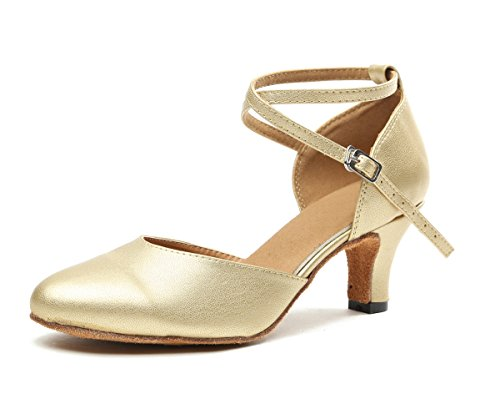 Tango Sandals Latin Fashion Dance Leather Gold Ballroom Salsa Minitoo Women's Suede Heel 6cm qAwppH