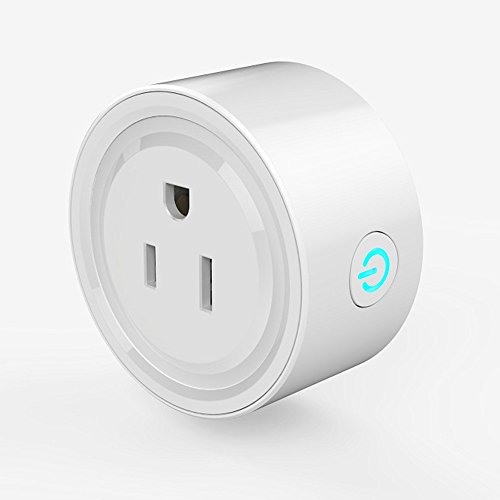 Wifi Smart Plug Compatible with Alexa, Mini Time Switch Wifi Outlet Socket Remote Control your Electronics from Smartphone or Tablet Anywhere, No Hub Required