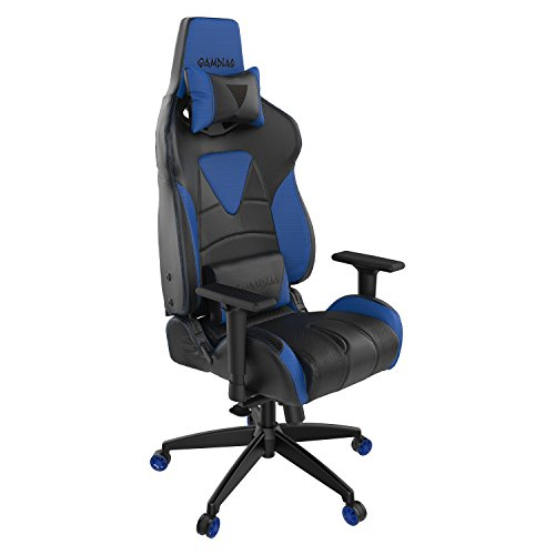 Gamdias Multi-color RGB Gaming Chair High Back Adjusting Headrest and Lumbar Support Black and Blue (ACHILLES M1) Gamdias