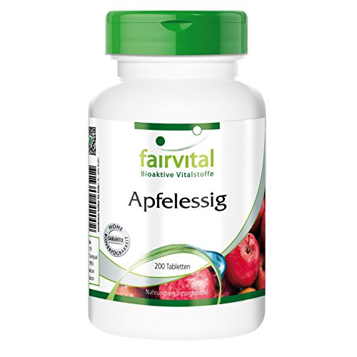 Apfelessig, 500 mg pro Kapsel, 4000 mg pro Tag, Monatspackung, 120 vegetarische Kapseln