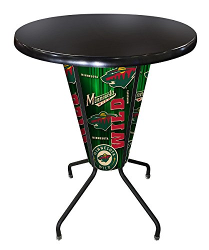 Holland Bar Stool Co. Outdoor/Indoor LED Lighted Minnesota Wild Pub Table ()