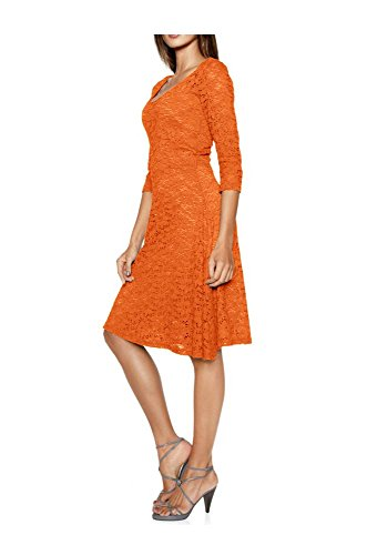 Kleid orange Kleid Ashley Brooke 46 Damen Spitzen qPUTBS
