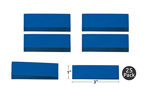 Write On Wipe Off Colored Magnet Strips (1 x 3, Blue), 25 Pack