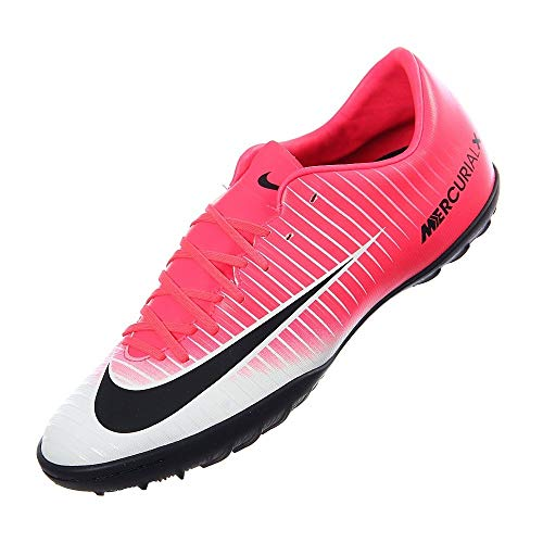 Nike MercurialX Victory VI TF Mens Football Boots 831968 Soccer Cleats (US 7, Racer Pink White Black 601)