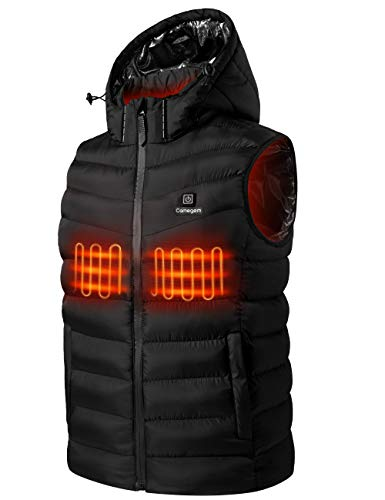 Upgraded Heated Vest for Men/Women - Rechargeable Electric Vest with 10000mAh Large Capacity Battery