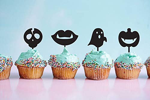 Happy Halloween, Scary Zombie Pumpkin Ghost Cupcake Topper, Halloween Party Ideas, Happy Halloween, Zombie Cake Topper, Set Of 4,Party Event Favors Decorations -