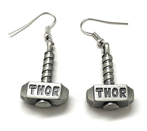 gs The Mighty Thor Hammer Earrings superhero Collection Jewelry ()