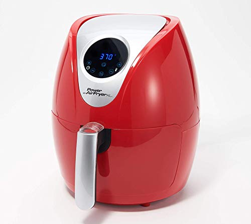 Power XL 2.4-qt Digital 1200W Air Fryer with Recipes and Divider Model K49235 (Renewed)