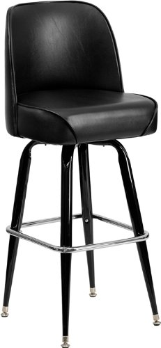 flash furniture metal barstool with swivel bucket seat - Amazon Bar Stools