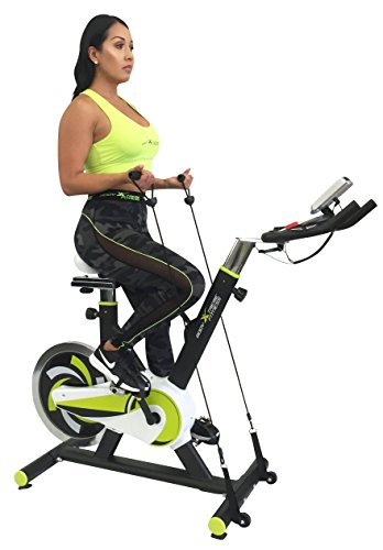 Body Xtreme Fitness Lime Green/Black Exercise Bike, Home Gym Equipment, 40lb Flywheel, Resistance Bands, Water Bottle Body Xtreme Fitness USA