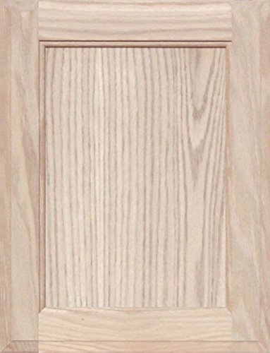 Square with Raised Panel by Kendor 38H x 18W Unfinished Oak Cabinet Door